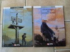 lot bd LES PIONNIERS DU NOUVEAU MONDE  tomes 1 et 2 J F Charles TBE