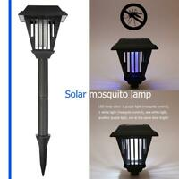 LED Garden Lawn Solar Mosquito Killer Light Outdoor Insect Pest Bug Zapper Lamp