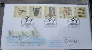 FDC Signed Bill Oddie, RARE, Copy 5 of 6, Wildfowl & Wetlands Trust, 12 Mar 96
