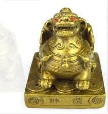 collection mythologie réaliste richesse animal bête laiton statue 3.5x3.5x5 CM