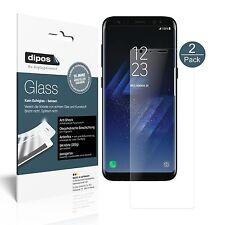 2x Samsung Galaxy S8 Protector de Pantalla Vidrio Flexible Mate Proteccion 9H
