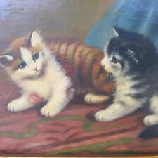 Ronner N. süße KATZEN spielende Kätzchen FEINMALEREI kitten pussy cat kitty ART