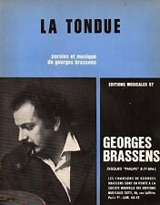 ▬►Partition  GEORGES BRASSENS ~~ LA TONDUE ~~