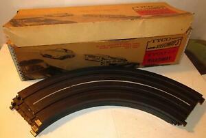 "3 Tyco Speedways 9"" Radius 1/4 Circle Curves # S5749, Tyco S Unused with Box"