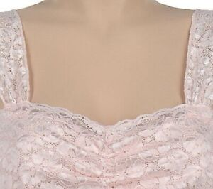 Breezies Angel Love Shirred Lace Camisole with Ultim Air Lining Size 2X  A12093