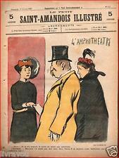 ▬►Le PETIT SAINT AMANDOIS  ILLUSTRÉ N° 513 du 17 Février 1901 Amphithéâtre