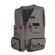 Men Fly Fishing Vest Mesh Waistcoat Mutil-Pocket Quick Dry Canoe Kayak L/XL/XXL