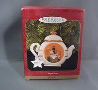 Hallmark Keepsake Ornament Teapot Party Magic 1997 Toys Bear Tea Xmas HKO