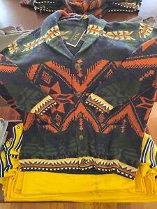 NWT Polo Ralph Lauren SOUTHWESTERN Design SHAWL COLLAR CARDIGAN Sweater LARGE