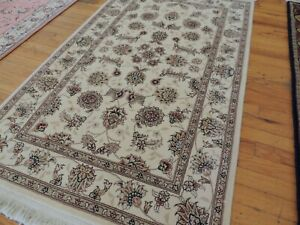 3x5  SILK & wool Oriental Area Rug Hand-knotted Beige Gold Beautiful !!!