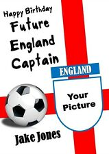 Personalised Own Picture/Photo England (Football) Birthday Card