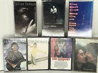 Lot of 7 Beatles Solo Cassette Tape John Lennon McCartney Harrison Julian FR SH!
