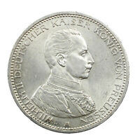 Pièce Argent Allemagne 5 Mark Guillaume II 1913 Superbe Silver Coin Germany