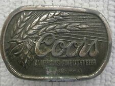 "1979 Great American Buckle Adolph Coors Logo Belt Buckle 3 1/4"" x 2 1/8"""