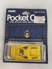 Tomy Tomica Pocket Cars Lamborghini Dome-O unused moc 1986 yellow rare