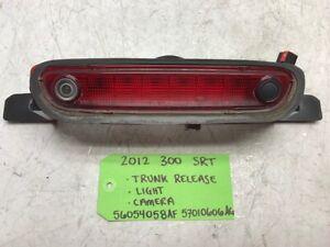 12 CHRYSLER 300 SRT SRT-8 OEM THIRD BRAKE LIGHT IN TRUNK W/ BACK UP CAMERA 11-14