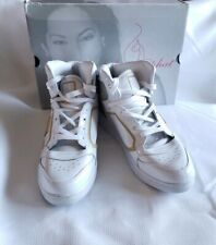 Womens Size 11 Baby Phat White High Top Sneakers Leather Shoes Glossy Cat In Box