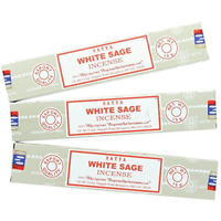 Divine Satya Nag Champa White Sage Incense Sticks - 3 Packs