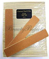 "50pc Garnet Board 100/100 Acrylic Jumbo Nail Files Plastic Center 7""x1.5 new"
