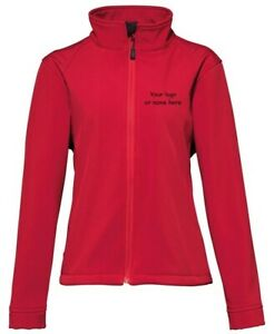 Personalised RED Soft Shell Jacket Name Horse Rider Custom Equestrian - SALE