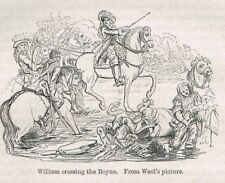William Crossing the River at Battle of the Boyne Ireland-1859 Page of History