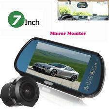 "US 7"" LCD Car Rearview Mirror Parking Monitor Night Vision Backup Reverse Camera"