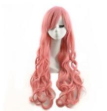 Japanese fashion anime Luca harajuku long cos pink curly wig wholesale female