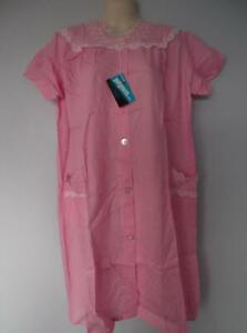 VINTAGE NIGHTGOWN SHIFT BUTTON DOWN FRONT LACE POCKETS LACY SISSY SIZE L NWT NOS