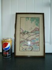 Vintage Embroidery Picture Tapestry Framed