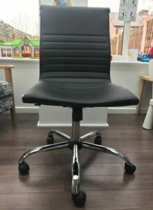 Used Office chair - black leather