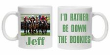 PERSONALISED HORSE RACING BOOKIES BETTING NOVELTY  MUG OR RACE GIFT TEA COFFEE