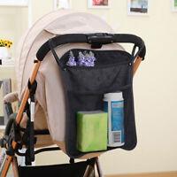 KQ_ FT- Baby Pram Stroller Pushchair NET BACK Bag Diaper Bottle Hanging Storage