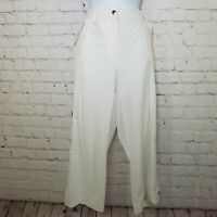 Zenergy by CHICOS White Capri Comfort Cropped Pants Size 0.5 Small Pockets