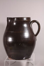 Antique Hand Turned Red ware Water pitcher 10""
