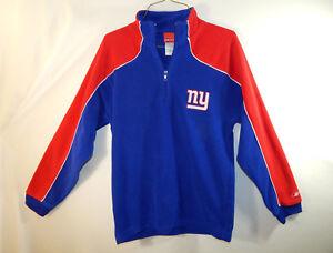 New York Giants NFL Football Fleece Sweater Reebok Size YOUTH LARGE L 14 / 16