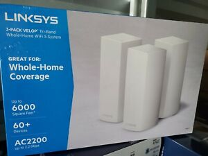 Linksys - Velop AC2200 Tri-Band Mesh Wi-Fi 5 System (3-pack) - White