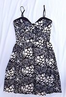 AS NEW Cooper St Size 14 Dress Skater Rockabilly Black White Print Event Classic