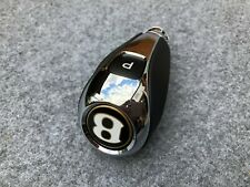 Bentley Bentayga Black Leather Chrome Gear Shift Knob GOLD Button Version NEW