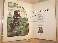 SERMONE DI S. ANTONIO AI PESCI,Vieira con Xilografia firmata Sigfrido Bartolini