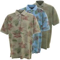 Kitaro Polo Poloshirt Hawaii Herren Kurzarm Übergröße