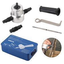 5X Metal Cutter Sheet Metal Nibbler Cutter Power Drill Attachment Double Head