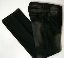NEW! Be Someone Size 8P Ladies Factory Distressed Black Cotton Jeans