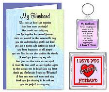 Husband Verse Gift Set - Card, Keyring & Magnet - I Love You - Birthday Present