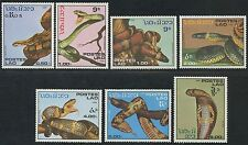 LAOS N°722/728**  Reptiles : serpents TB, 1986 snakes set MNH