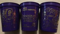 Lot Of 3 Vintage 1988 Purple Mardi-Gras Pandora Majestic Odyssey Theme Drink Cup