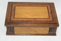 Antique Wooden Victorian Jewellery Sewing Trinket Chest Box Storage L19xW27xH8cm