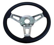 PG Classic 256-BS Mopar A,B,C,E-Body Leather Tuff Steering Wheel, Black