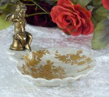 Schale Porzellan Bronze Seifenschale Engel Antik Muschel Seifenablage Ablage Neu