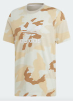 Adidas T Shirt Mens Small Authentic Originals Trefoil Tee New Camoflage Graphic