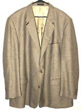 Menswear Sports Coat Blazer Jacket Alexandre Lloyd Two Button Mens 54L Tan RAZZ1